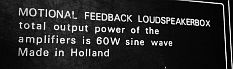 electronic motional feedback loudspeakers